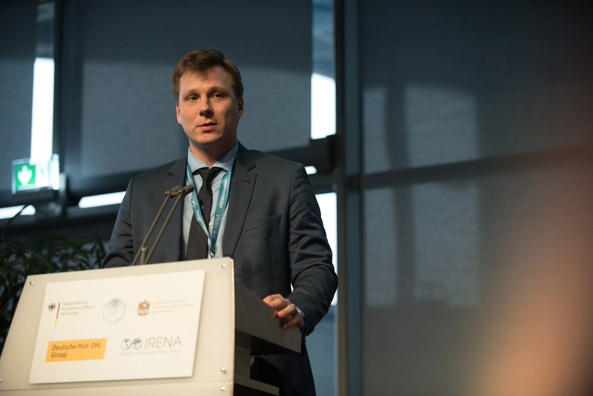 Head of the laboratory A.B. Tarasov presents a talk on perovskite photovoltaics at the forum 'COP23 Renewable Energy Day'